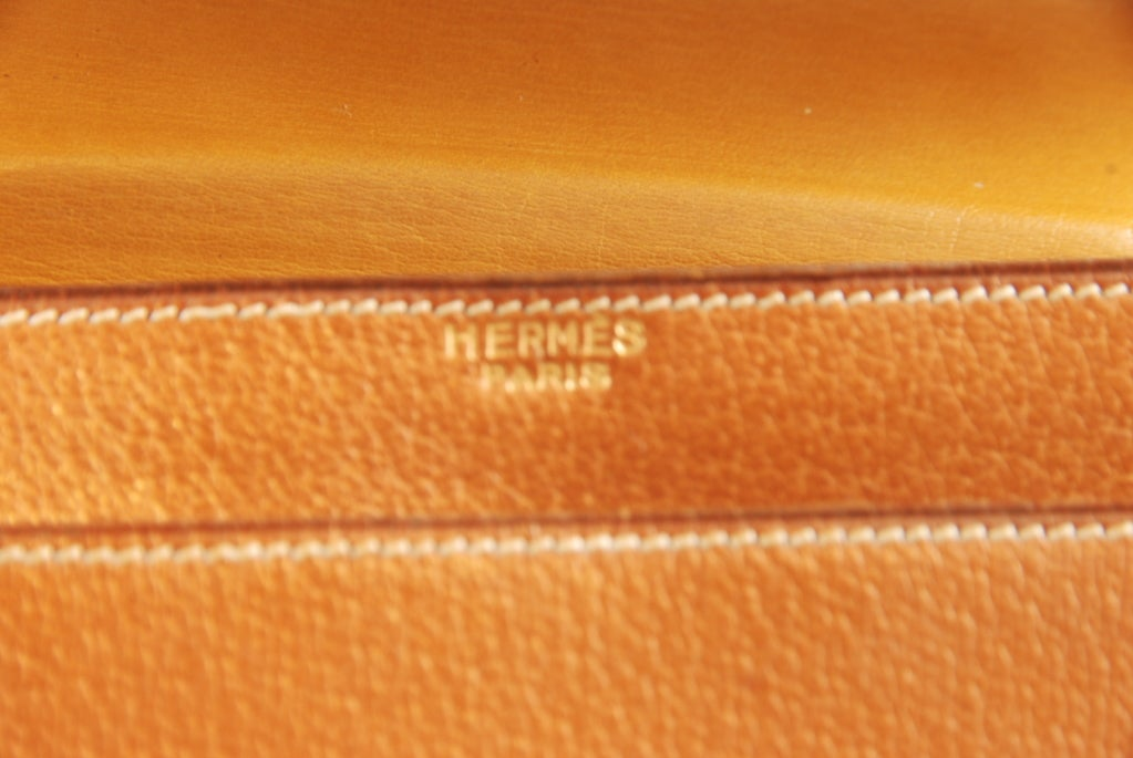 1960's Hermes Peau Porc Leather Vintage Hand Bag image 5