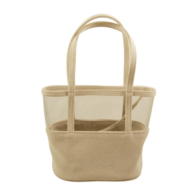 noriko maeda canvas and clear plastic tote at 1stdibs