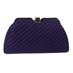 Judith Leiber Purple and Black Evening Bag