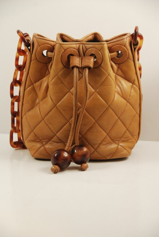 Quilted Leather Chanel Bag Quilted Leather Bucket Bag