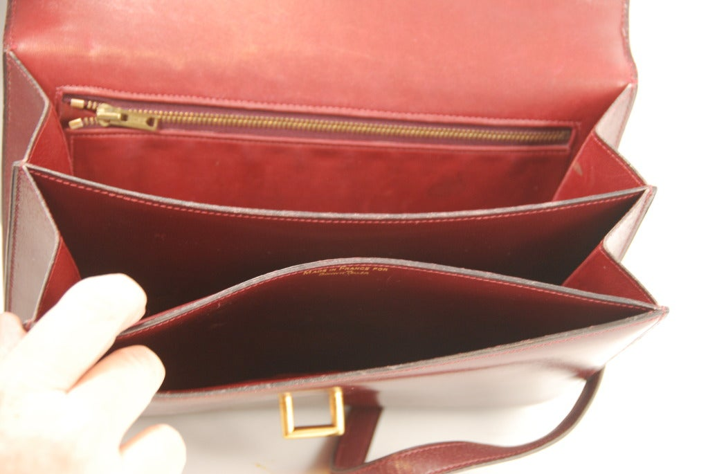 birkins handbags - 1960s Vintage Hermes Oxblood Leather Handbag/Shoulder Bag at 1stdibs