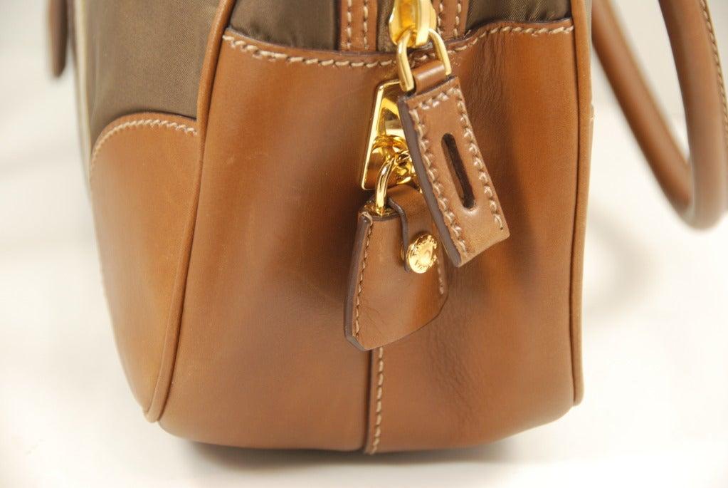 Prada Tessuto Bauletto Bowlling Bag For Sale at 1stdibs
