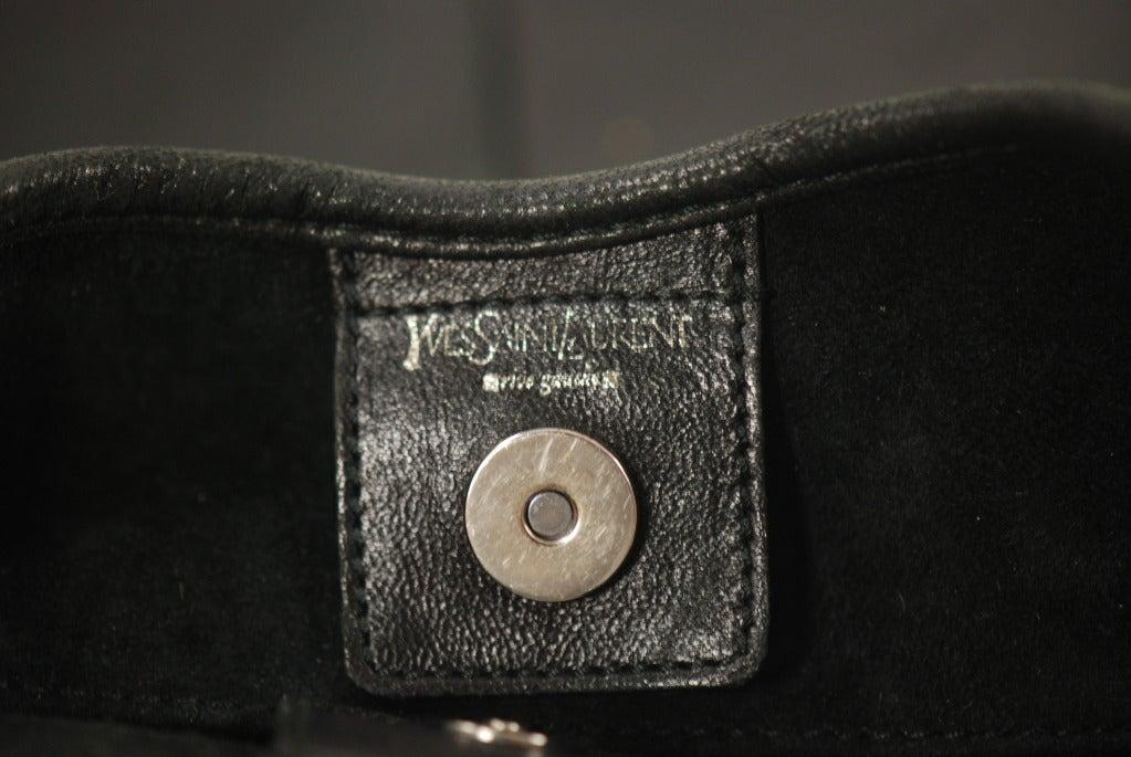 Yves St. Laurent/YSL Black Leather Mombasa Bag at 1stdibs