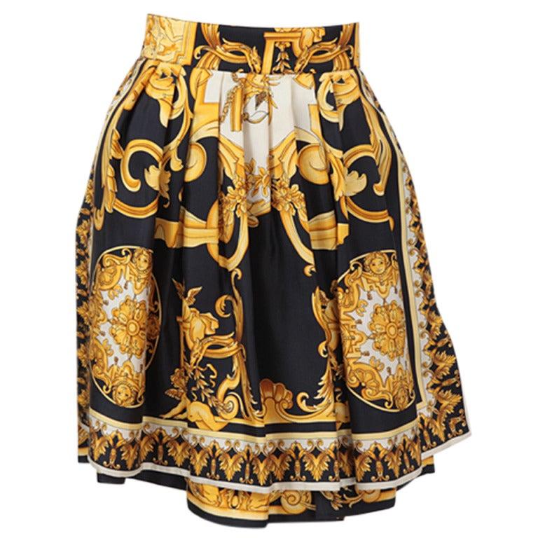 Scarf Print Skirt