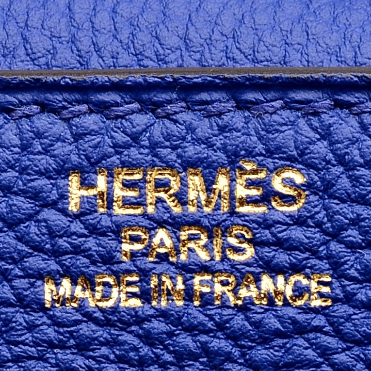 Hermes Bleu Electrique (Blue Electric) Togo Kelly 35cm Gold ...