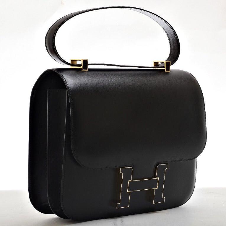 Hermes Black Constance Cartable 29cm Gold Hardware at 1stdibs