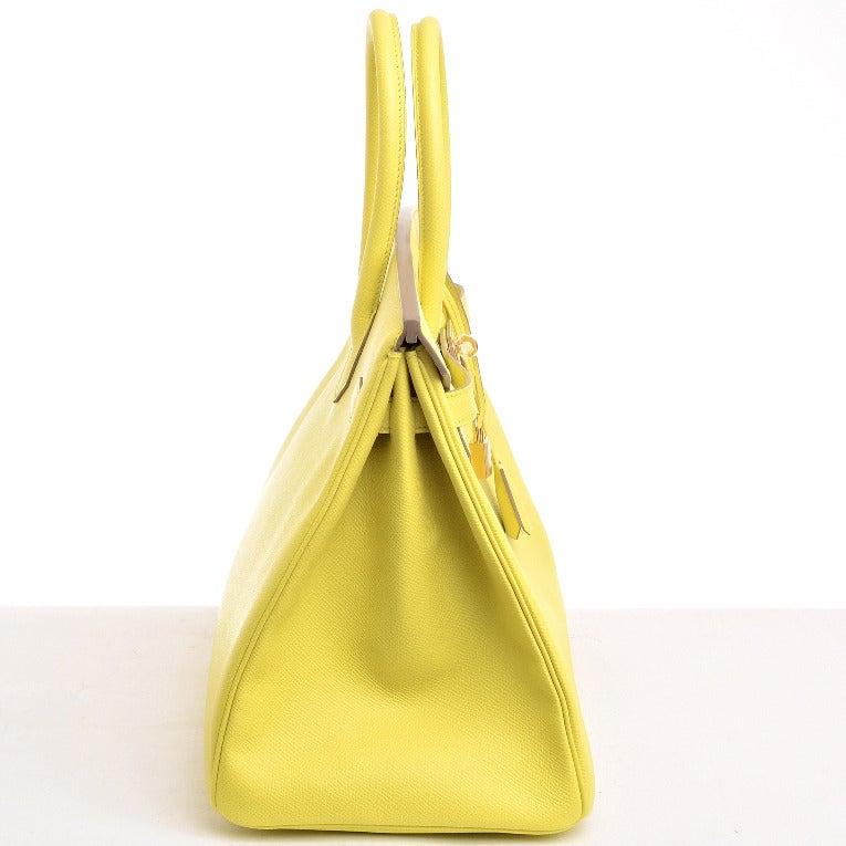 hermes birkin bag 35cm soufre epsom gold hardware
