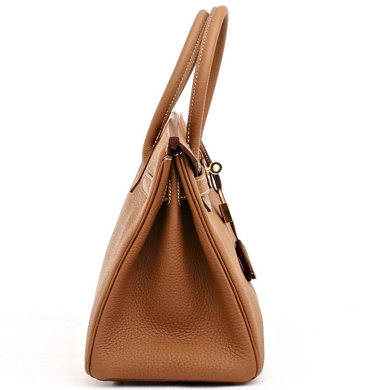 replica hermes evelyne bag - Hermes Gold Togo Birkin 30cm Gold Hardware at 1stdibs