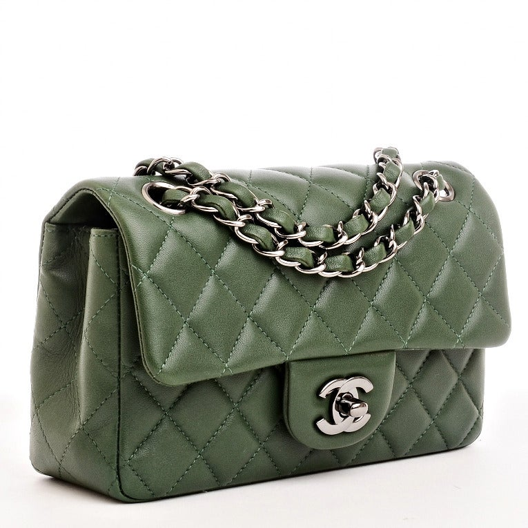 9f3a8b384d62 Chanel Flap Bag Green | Stanford Center for Opportunity Policy in ...