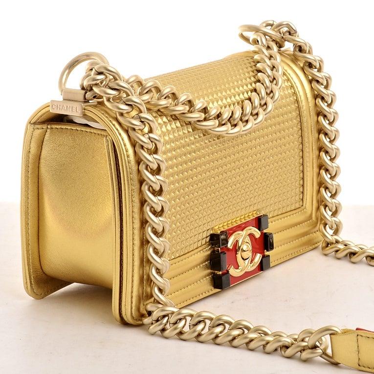 Chanel Cube Boy Embossed Embossed Cube Boy Flap Bag