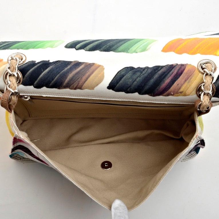 Chanel Paint Palette Canvas 2 55 Flap Bag At 1stdibs
