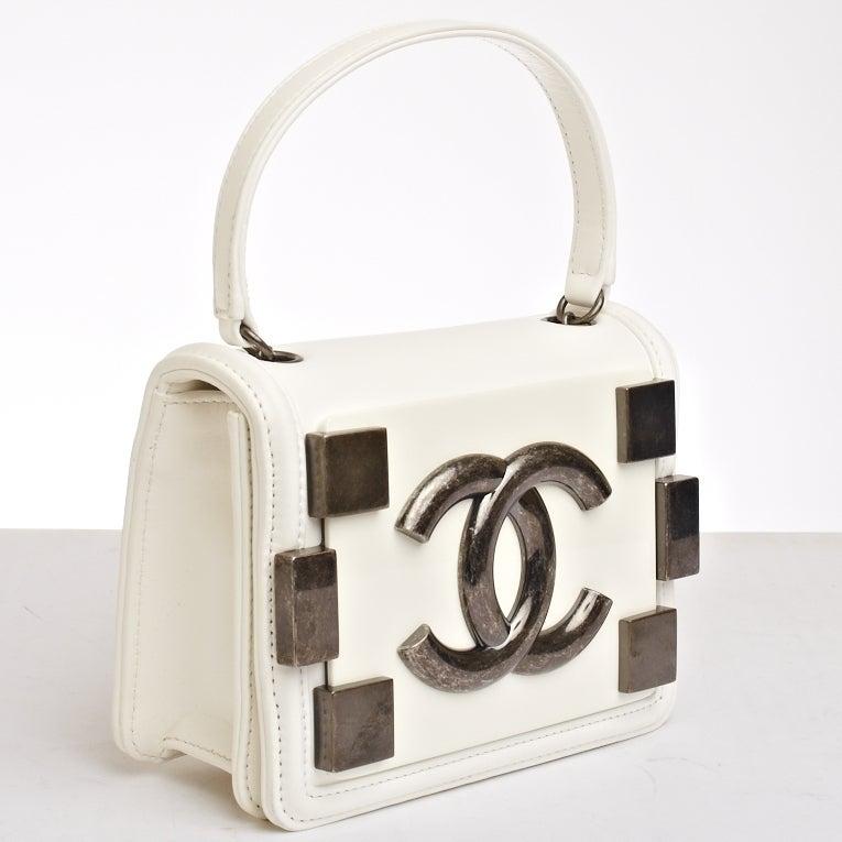 Chanel Boy Bag White Bag Image 3 Chanel White