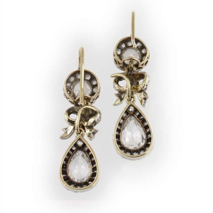 Victorian Diamond Drop Earrings 2