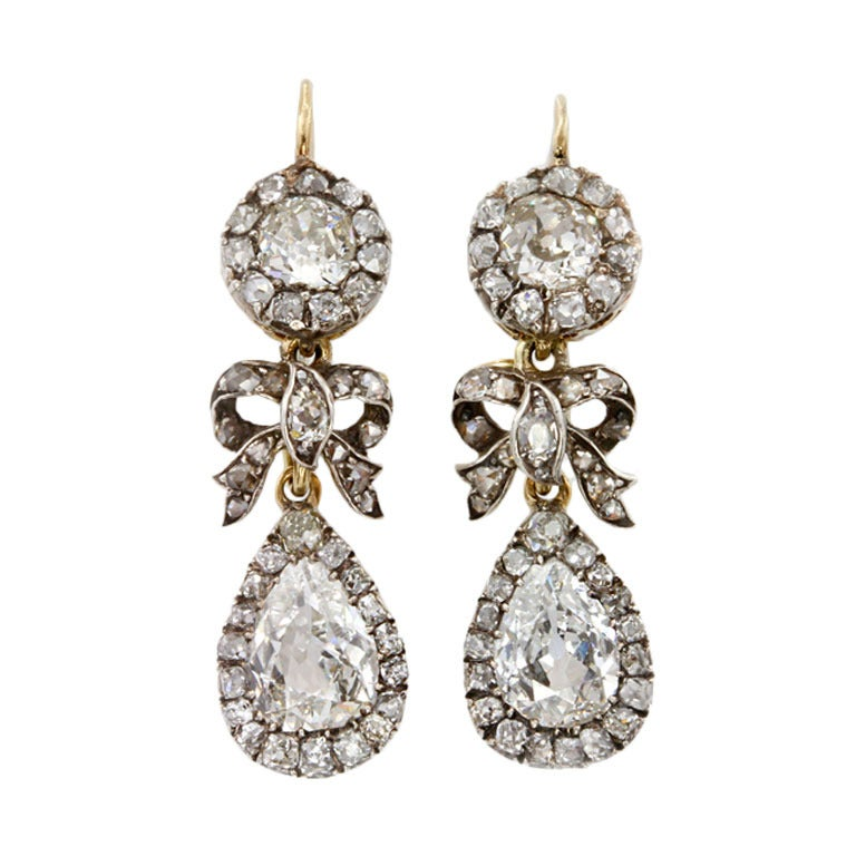 Victorian Diamond Drop Earrings 1