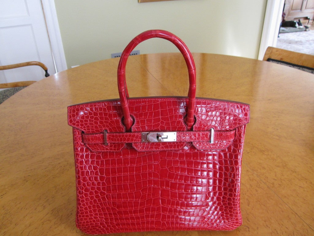 hermes bag price range - Hermes 30cm Red Crocodile Birkin Bag at 1stdibs