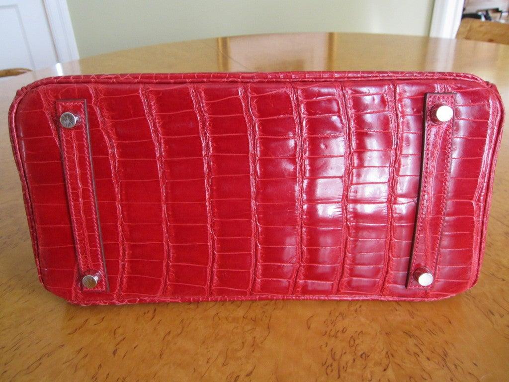 8fe2d997f39c Hermes 30cm Red Crocodile Birkin Bag at 1stdibs
