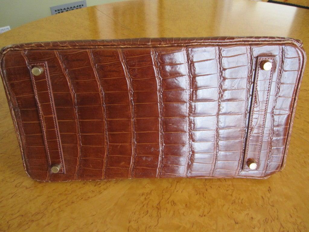 Women's Hermes 35cm Caramel Crocodile Birkin Bag