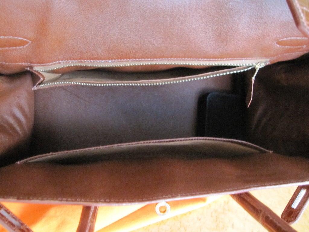 Hermes 35cm Caramel Crocodile Birkin Bag 3