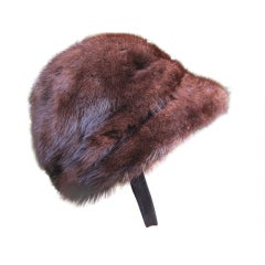 Luxurious Mink Riding Cap