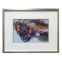 Helmut Newton original photograph of Lauren Hutton in Fox