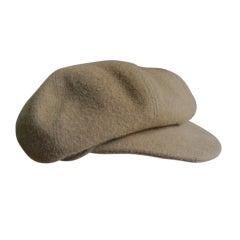 Hermes pure cashmere newsboy cap