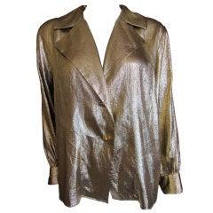 Yves Saint Laurent Rive Guache vintage gold silk blouse
