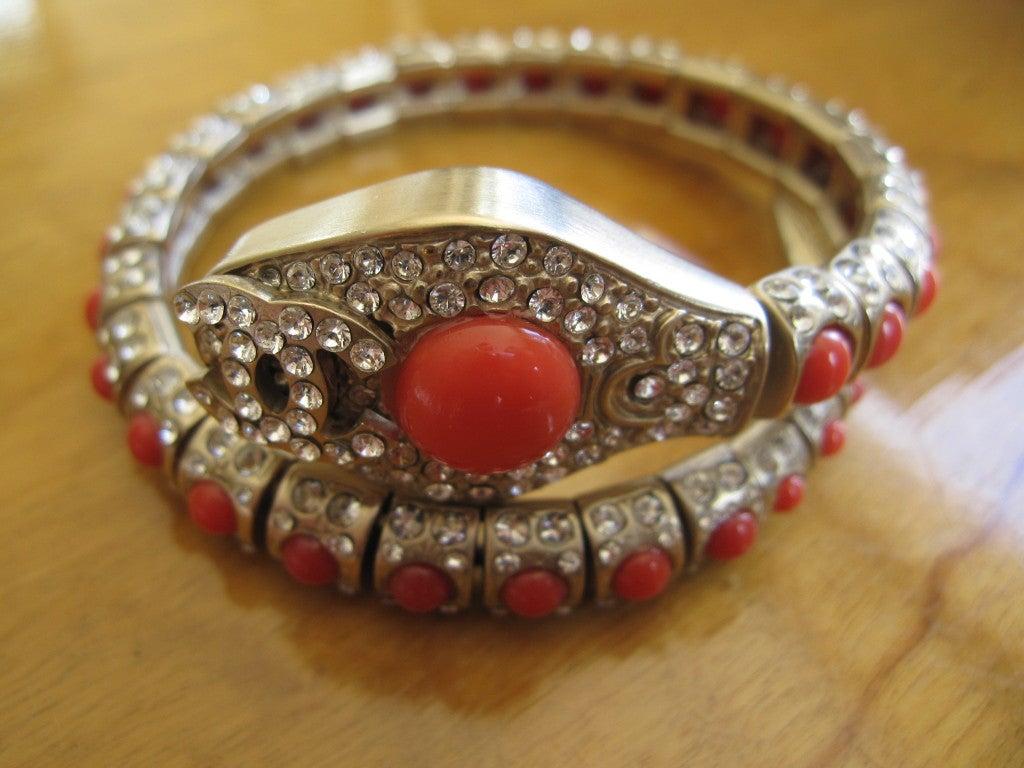 Chanel coral snake articulated bracelet 2