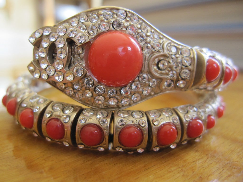 Chanel coral snake articulated bracelet 3