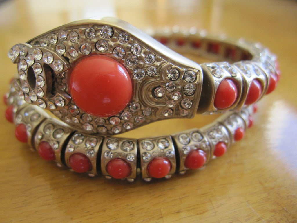 Chanel coral snake articulated bracelet 4