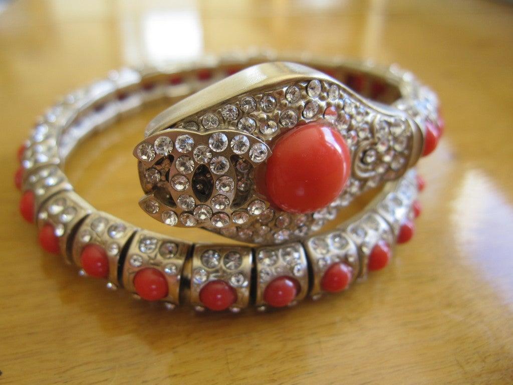 Chanel coral snake articulated bracelet 5