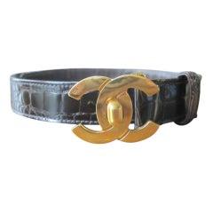 Chanel crocodile belt