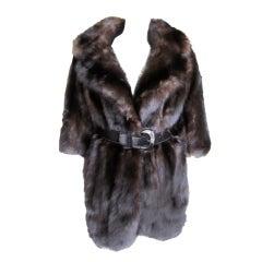 Revillon Paris Russian Sable Coat with Bracelet length sleeves