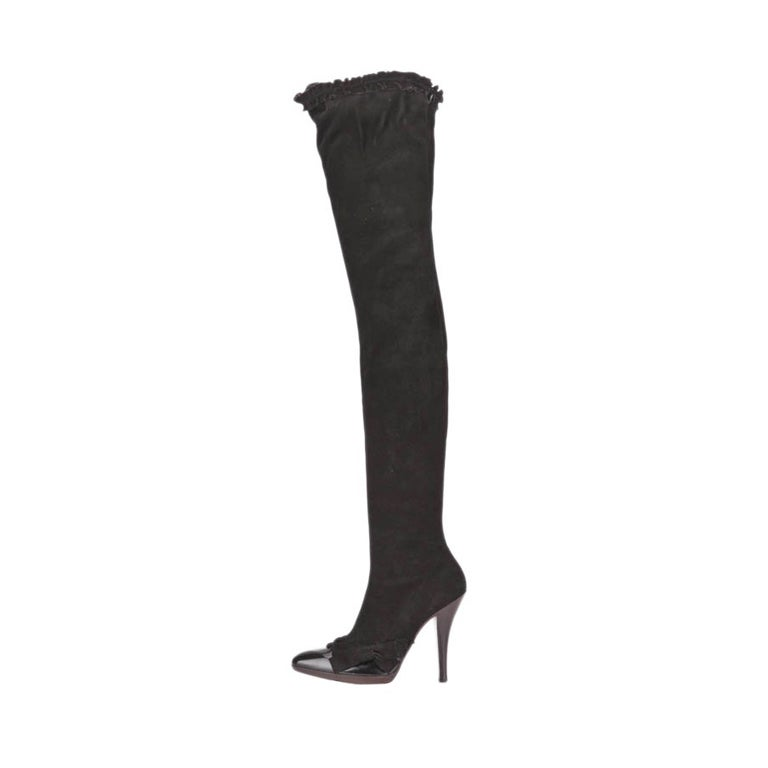 yves laurent tom ford fall 2001 thigh high boots 10 5