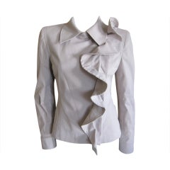 Yves Saint Laurent by Tom Ford Fall 2003 Ruffled Jacket 40