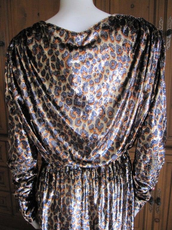 Yves Saint Laurent Haute Couture silk  velvet leopard dress 4