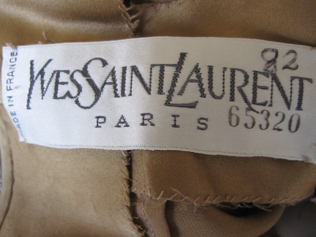 Yves Saint Laurent Haute Couture silk  velvet leopard dress 5