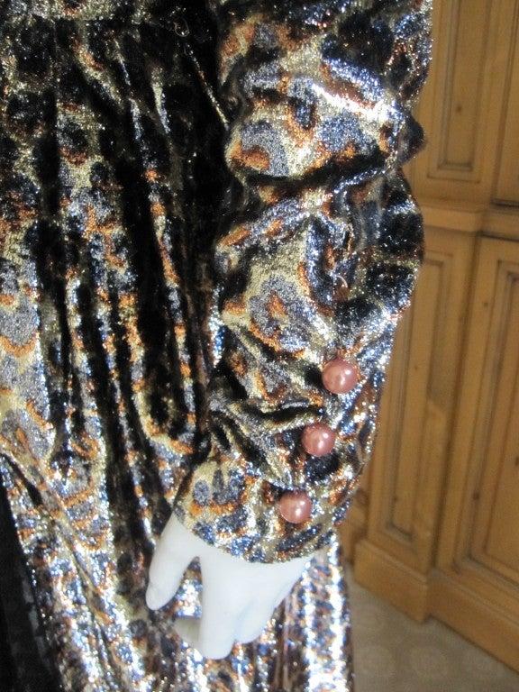 Yves Saint Laurent Haute Couture silk  velvet leopard dress 9