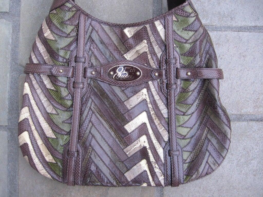 58 Bag Navy Tassel Zip Tote Black 47 Off: Gucci 85th Anniversary Snakeskin And Lizzard Hobo Handbag