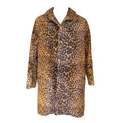 Prada men's leopard calf fur coat  sz 38 (48) NWT