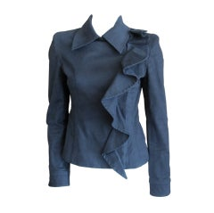 Yves Saint Laurent by Tom Ford Fall 2003 Ruffled Jacket