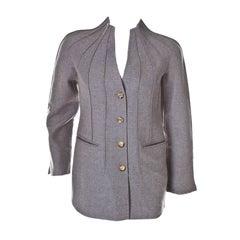 Chado Ralph Rucci luxurious pure cashmere sculptural jacket