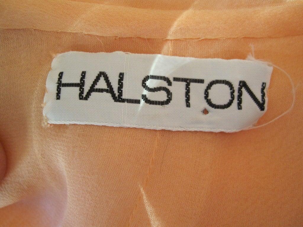 Halston diaphanous vintage cape dress 8