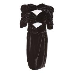 Vionnet peek a boo velvet dress