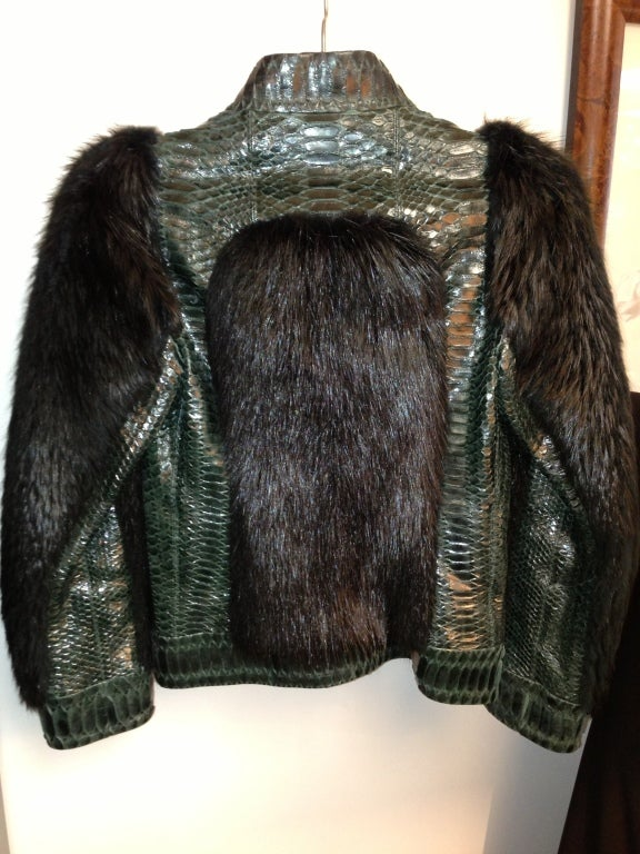 Gucci  Tom Ford  Fur and Snakeskin jacket    sz 38 3