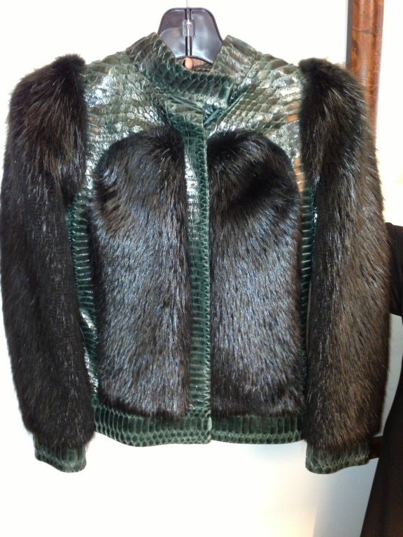 Gucci  Tom Ford  Fur and Snakeskin jacket    sz 38 2