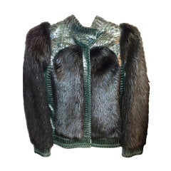 Gucci  Tom Ford  Fur and Snakeskin jacket    sz 38