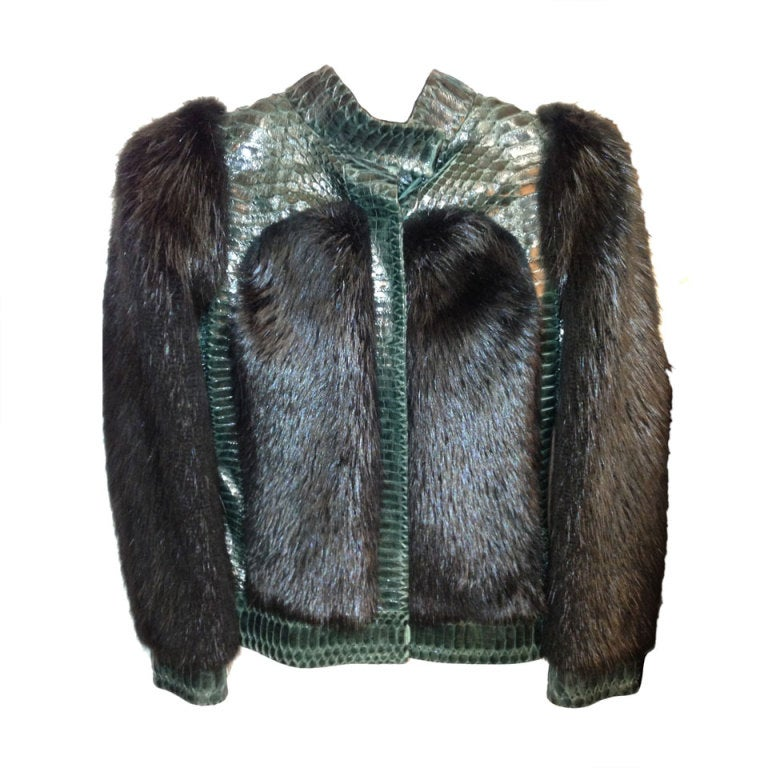 Gucci  Tom Ford  Fur and Snakeskin jacket    sz 38 1