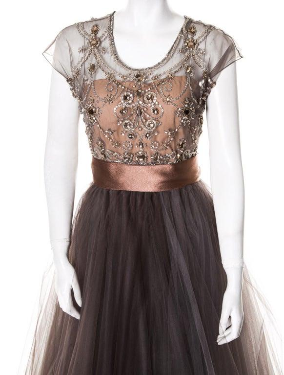 Oscar de la Renta amazing embelished ball gown New 4