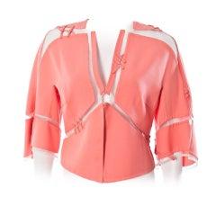 Chado Ralph Rucci luxurious  sculptural jacket sz 2