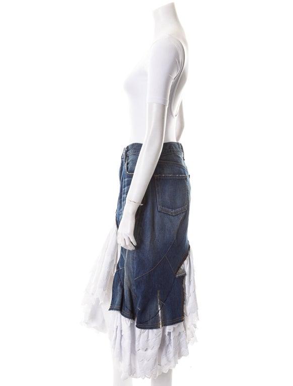 Junya Watanabe denim and lace mermaid skirt  sz S 3